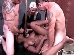 Big shaped ebony Nikki Ford adores good hard group fucking.